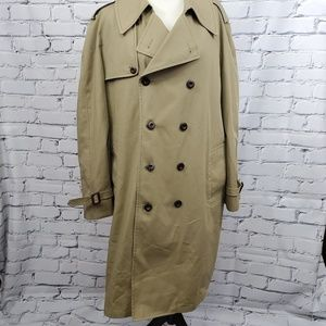 London Fog Trench Coat Removable Lining sz 42L